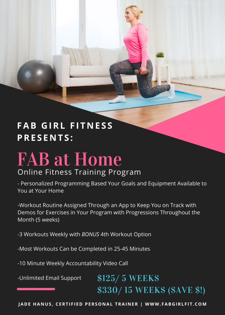 FAB at Home Online Fitness Training Program